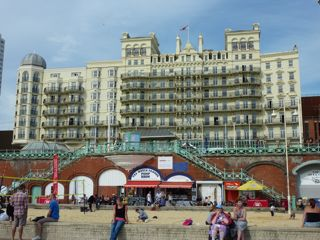 The Grand hotel on the seafront in Brighton