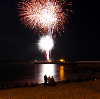 Fireworks night in Lyme Regis