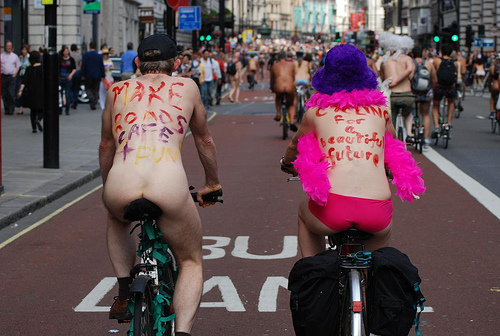 Off beat sports - the london naked bike ride