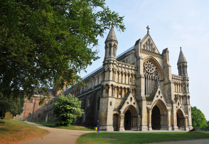 St Albans Cathedral & Abbey in hertfordshire